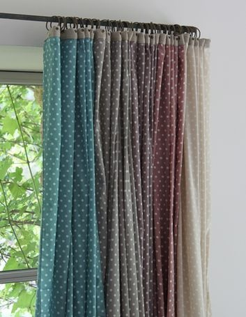 Les POIS COTON VOILE : 110 X 280 Cm, Fine Bande De Lin De 3. Fancy Bedroom CosyWindow TreatmentsDiy ...