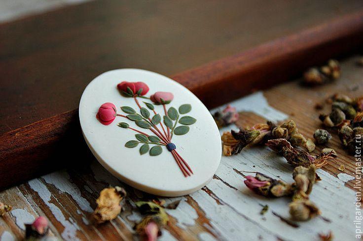 Купить Розы Брошь Серия Букетики - ручное украшение, оригинальное украшение…