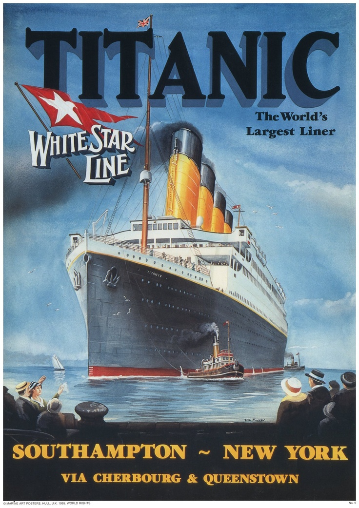 Titanic Poster - This exact print is hanging in our living ...