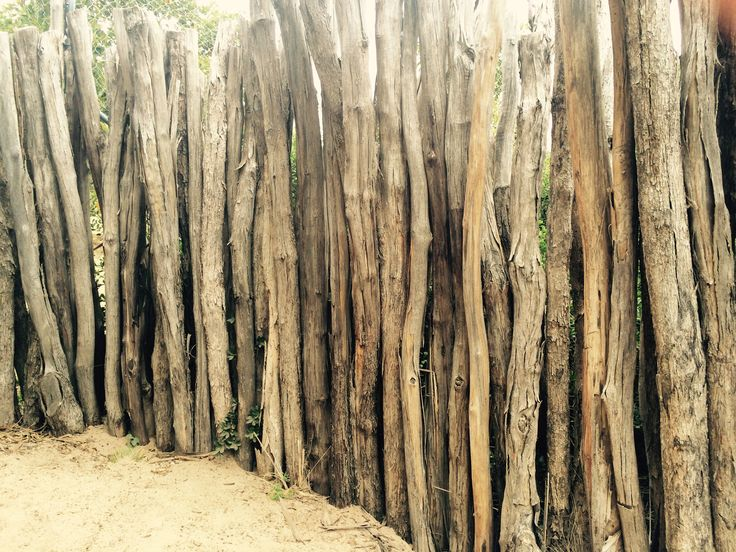 Fence made of tree trunks
