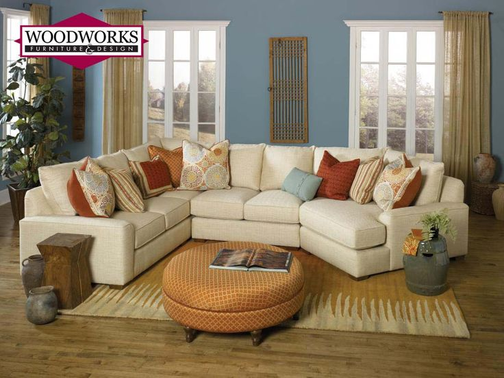 This 8000 series sectional features the Smith Brothers Deco Arm as fortable as it is - smith brothers sofas