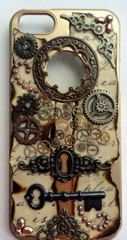 Steampunk phone case--adapt to a light switch cover