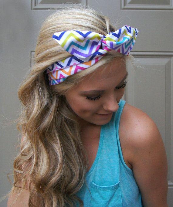 ROCKABILLY Headband Wired Dolly Bow Bandana PIN UP by Nachibands