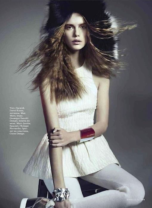 Stina Rapp | Elle Russia January 2013