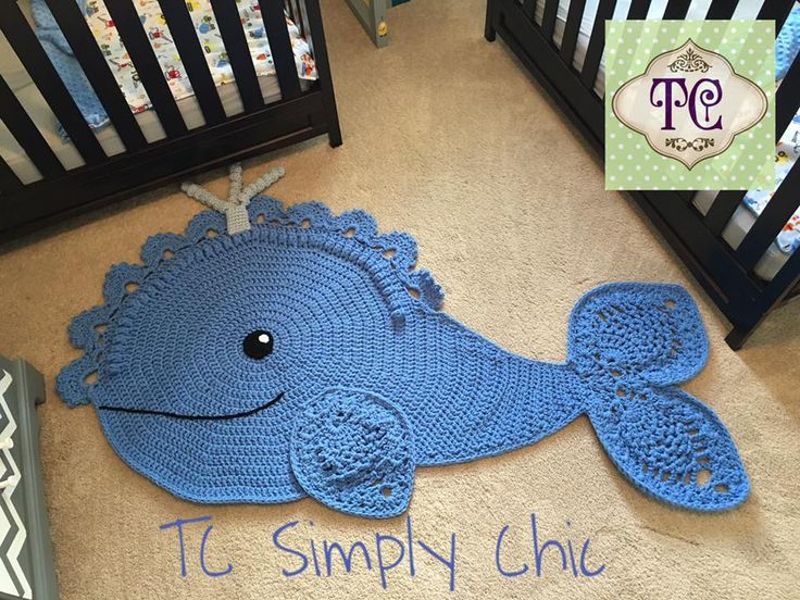 Another Beautiful Rug Made By TC Simply Chic From Our Whale Rug Pattern! If  You