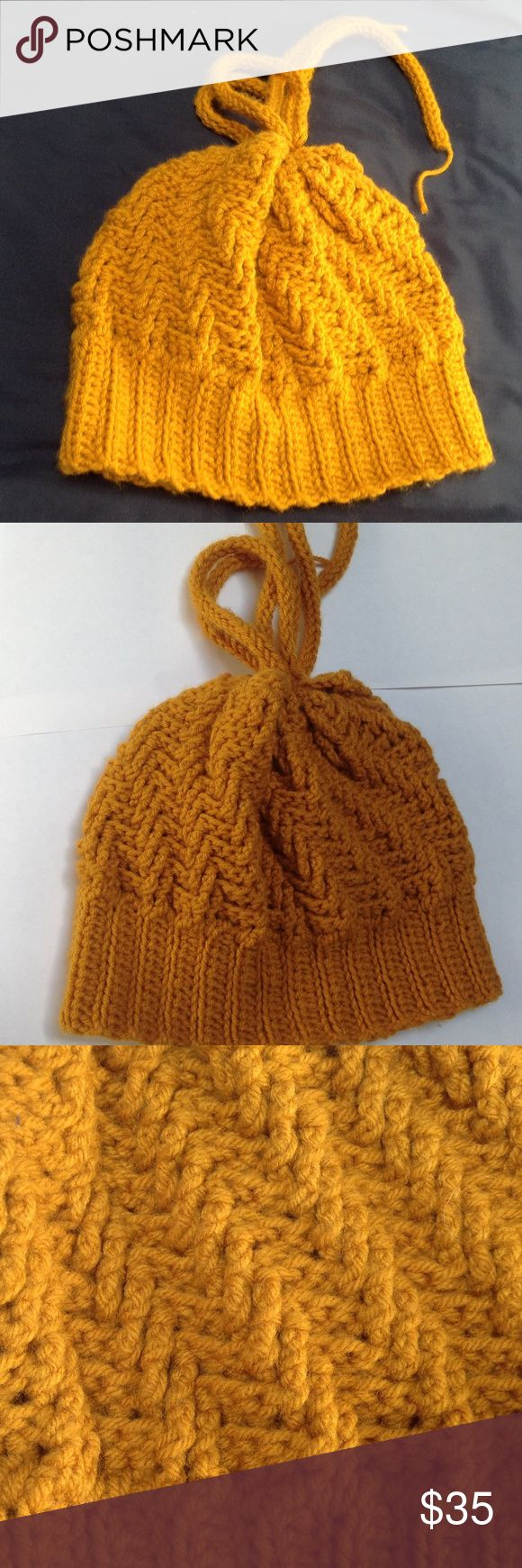 Crochet Hat / Neckwarmer The crochet hat is adjustable to a  neck-warmer, handmade with Acrylic. Accessories Hats
