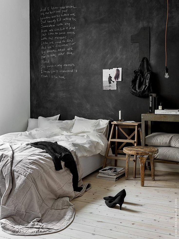 Dark and dreamy Ikea bedroom