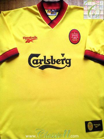 Relive Liverpool's 1997/1998 season with this vintage Reebok away football shirt.
