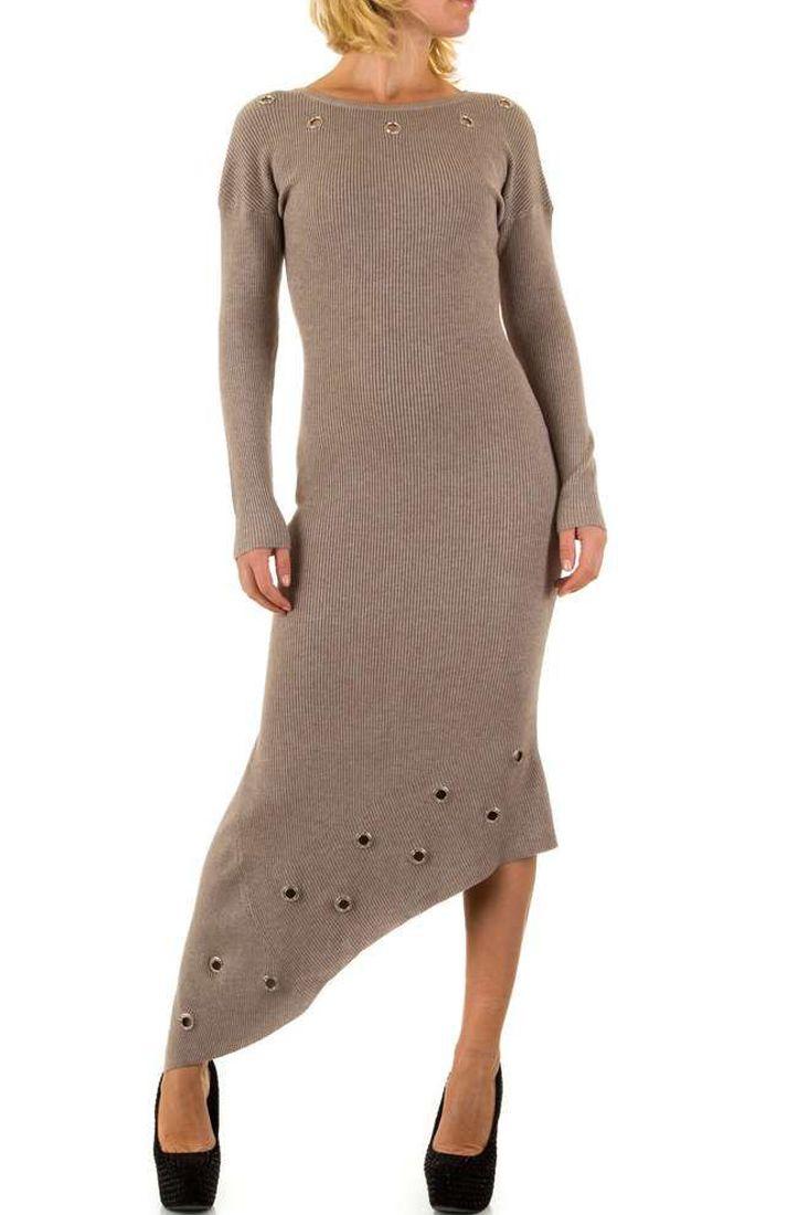 Beige Knit Loop Asymmetrical Dress - Buy Fashion Online South Africa - Fashionhub.  R950.00  http://fashionhub.co.za/beige-knit-loop-asymmetrical-dress.html