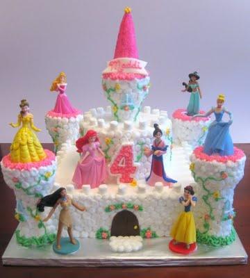 princess castle cake- I think i can, I think I can...