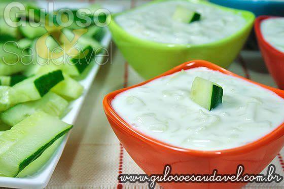 Receita de Molho Grego de Iogurte, o Tzatziki