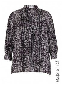 Top with front frill Animal Print