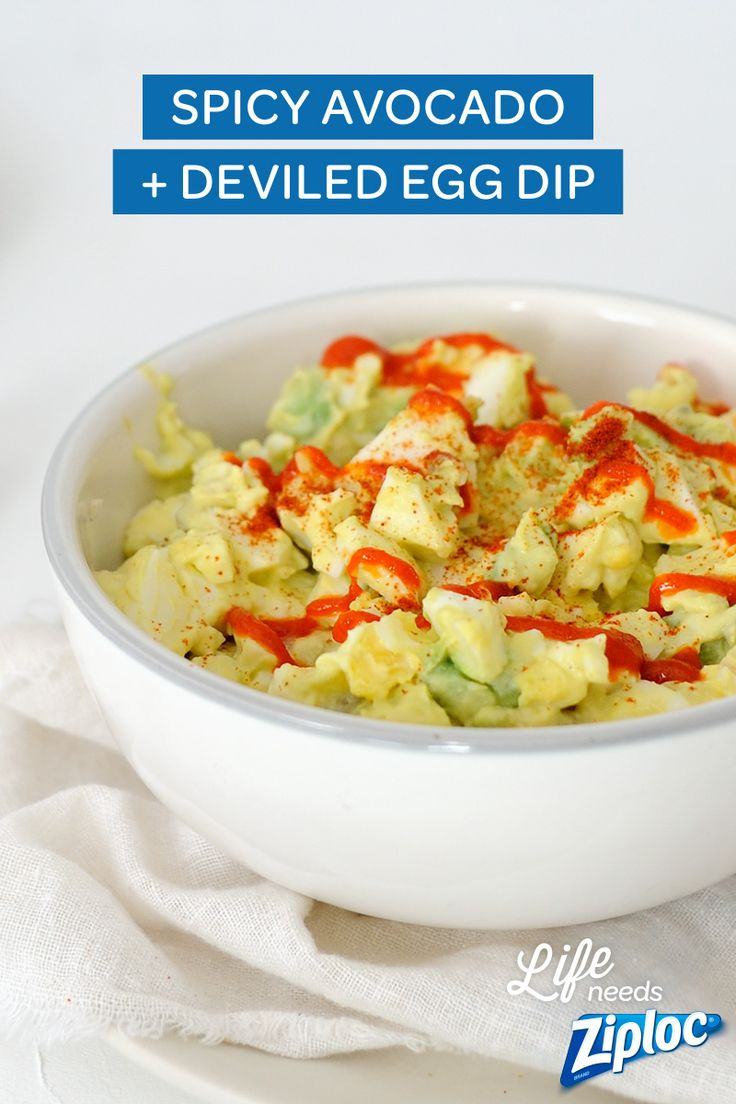 for a brunch party! Just combine deviled eggs, avocado and sriracha ...