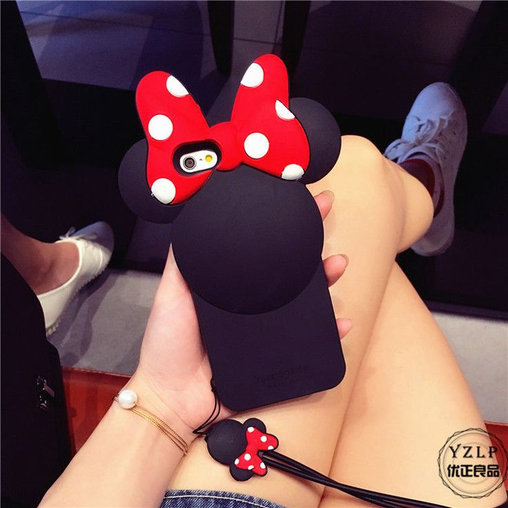 Cartoon Disney Minnie Mouse Silicone Phone Case Cover for iPhone 6 Plus 6S Plus #UnbrandedGeneric