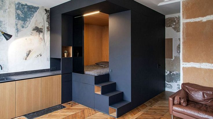 A multifunction cube in 32 m2. It's possible ! #bedroom #kitchen #living room