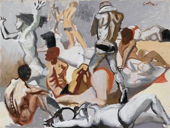 Renato Guttuso - La spiaggia (1954)