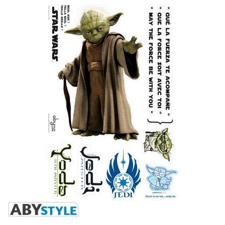 STAR WARS Stickers Star Wars Yoda Echelle 1
