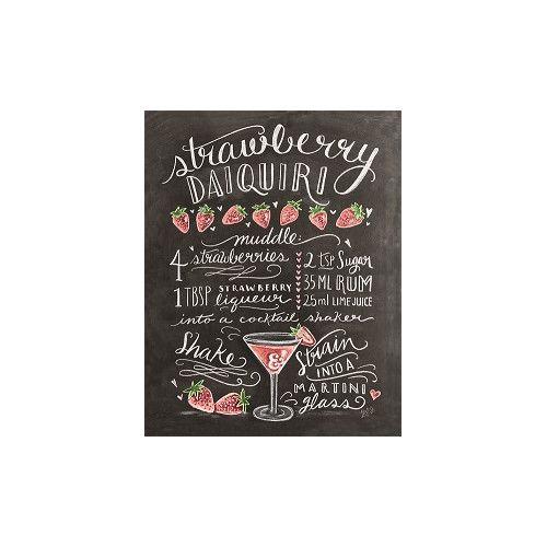 """Gefunden bei Wayfair.de - Poster """"Classic Cocktails Red Cocktail"""" von Lily and Val, Retro-Werbung"""