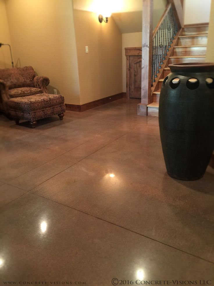Dark Brown Stained Concrete Floors Home Design