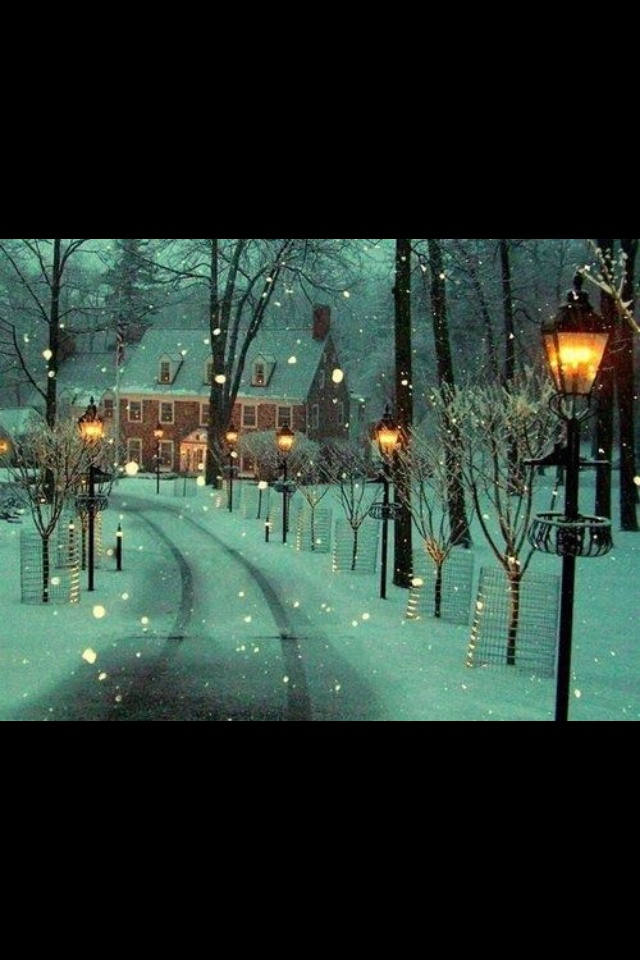 snowy lane new hope pennsylvania photo via prufox what a beautiful picture love the ambiance chi yung office feng