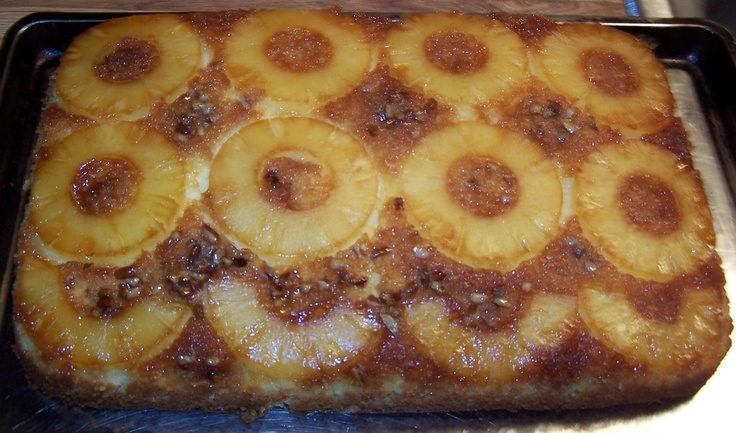 Pineapple Upside Down Cake Made With Duncan Hines Cake Mix