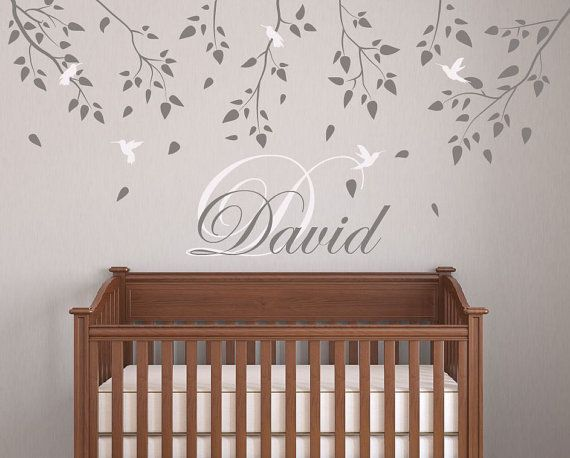 Wall Decals for Nursery Baby Room Designs Tree Branch with birds Wall stickers for bedrooms Decor Art by DecalIsland -Tree Branch SD 045 on Etsy, $48.00