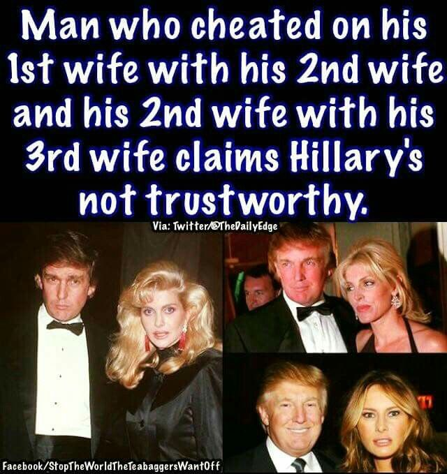 Trump is for Trump... He has No Family Values, No loyalty, No Integrity. No Decency... HOW can people not see him for what he is?