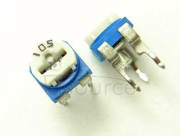 Blue White 1M(105) Horizontal Resistance Rheostats(10pcs) Resistance: 1M Power Rating: 2W Brand: Utsource