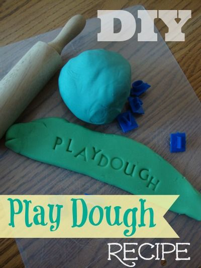 DIY Play Dough Recipe.  The best one yet!  It stays soft for weeks!