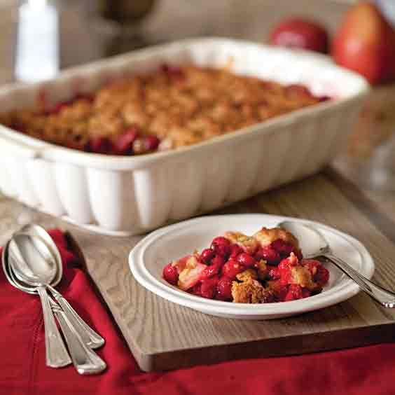 This cranberry-pear crumble is extra-easy to make!