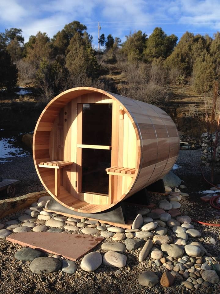 This photo was taken by Kelli in Durango, CO. What a great location for a sauna!