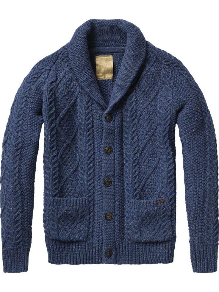 Japanese styled knitted cardigan - marine - Scotch & Soda