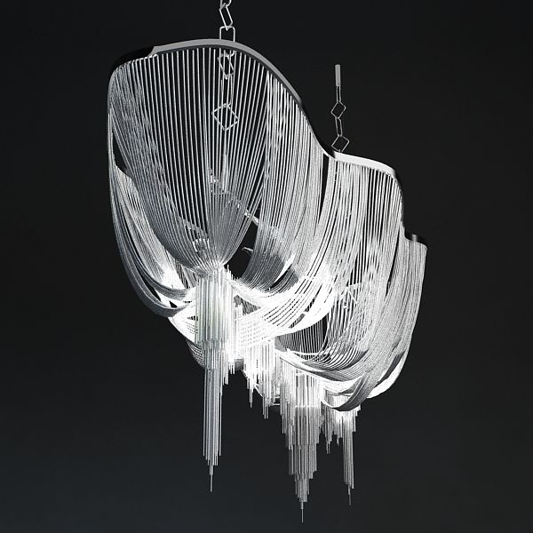 Chandelier Terzani Atlantis 3D Model- 3d model of TERZANI ATLANTIS  Fully detailed model, It has great geometry. Detailed enough for close-up renders.  Originally modelled in 3ds max 2009. Final images rendered with vray 1.50 Sp2.   All materials are included and mapped. - #3D_model #Lamp
