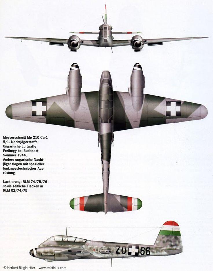 Messerschmitt Me 210 - Hungarian Air Force.