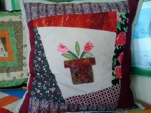 Coixí de patchwork. Lluïsa Martí.