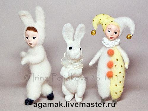 «Игра в куклы». Сувенирная ватная игрушка - Ярмарка Мастеров - ручная работа, handmade
