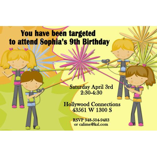 Printable birthday invitation for a ten year old laser tag template 38 best lasertag birthday party ideas images on pinterest wedding invitations filmwisefo