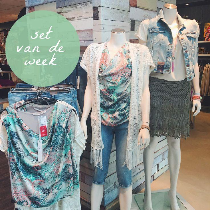 Set van de week! Wij kunnen er geen genoeg van krijgen; Zomerse temperaturen en zomerse outfits! #steegengamode #dames #mode #zomer #sale #pink #mint #skirt