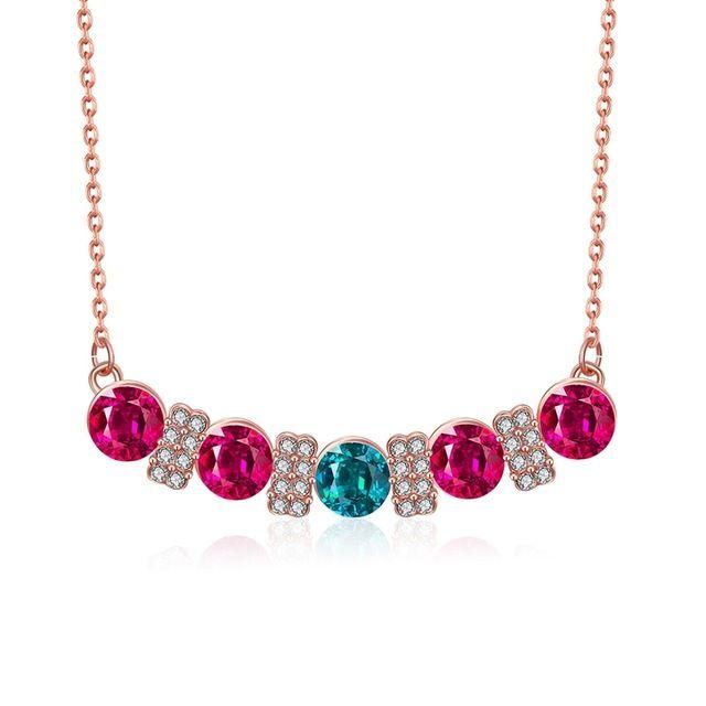 Роза ювелирного бренда день святого валентина подарок лучший друг любовь многоцветный розарий ожерелье опал ожерелье мода ювелирных изделий 2030242560