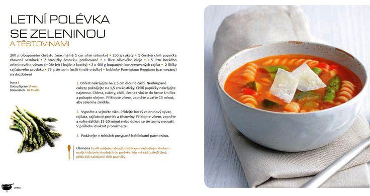Letní polévka se zeleninou, recept Uniflex