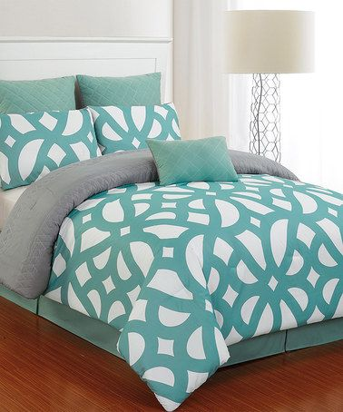 Another great find on #zulily! Teal Uxbridge Quilted Comforter Set by Duck River Textile #zulilyfinds