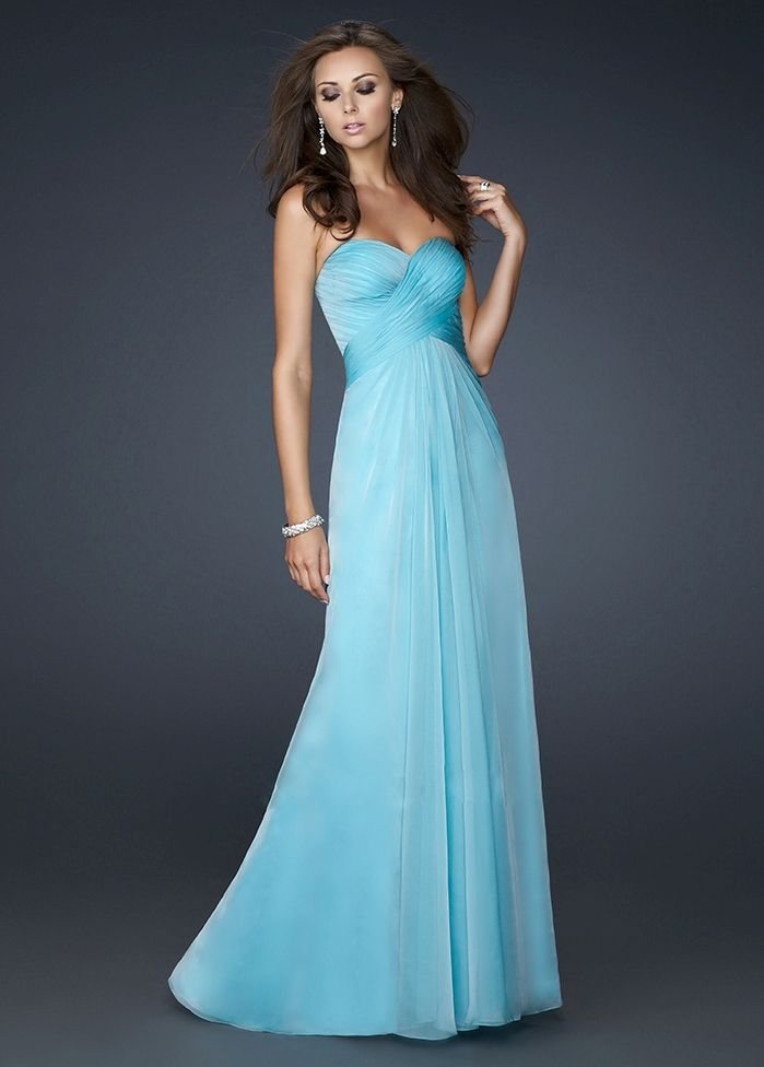 Long strapless poofy prom dresses