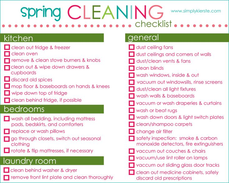 13 best images about Spring Cleaning on Pinterest Cleaning - sample spring cleaning checklist