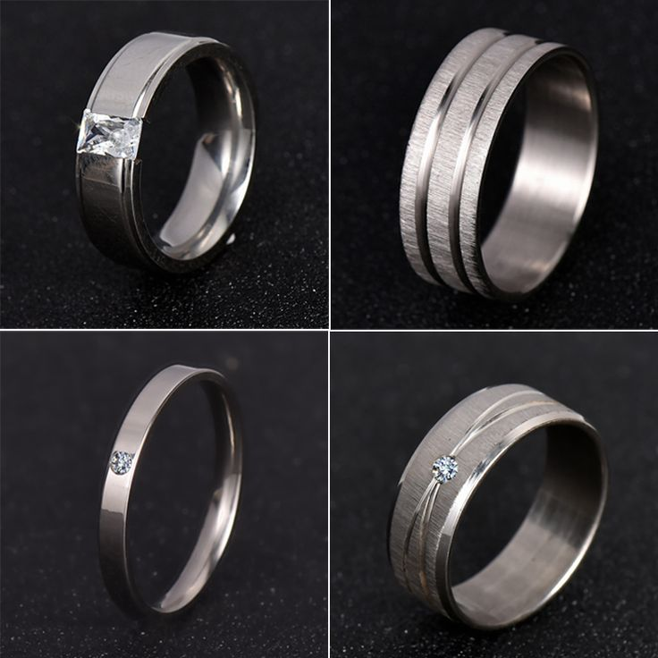 2016 New Men's Women Ring White Gold Stainless Steel Punk Bike Ring With Wire Cubic Zirconia Wedding Rings Party USA Size