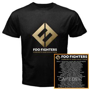 New Foo Fighters north american fall tour 2017 hot black tee S, M, L, XL, 2XL