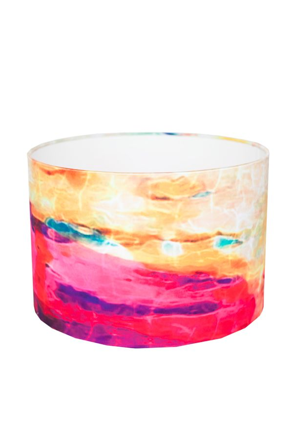 'Deep Water' brings style and contemporary elegance to your interior.  Inspired by a love of the sea, this lampshade has a very calming effect and is beautiful when lit.  FREE DELIVERY IN IRELAND