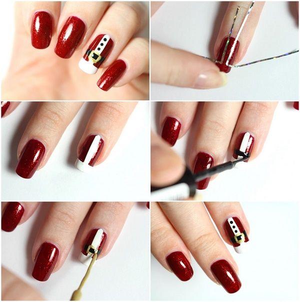 Easy Christmas Nail Art: Best 25+ Simple Christmas Nails Ideas On Pinterest