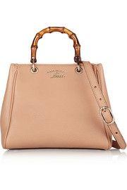 GucciBamboo Shopper mini textured-leather shoulder bag