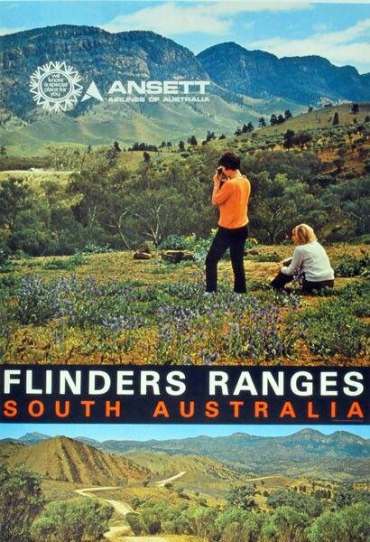 Flinders Ranges, South Australia ~ Ansett Airlines of Australia