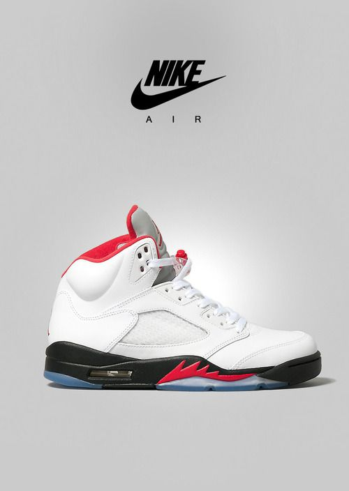 Nike Air Jordan-Retro 5-White/Varsity